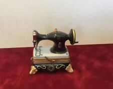 Hand Painted Limoges France Sewing Machine Box