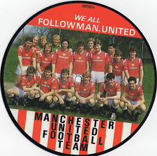 """We All Follow Man. United - Manchester United FC 7"""" vinyl picture disc single UK"""