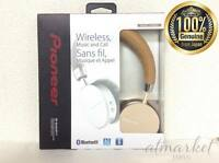 Pioneer Wireless Headphones Bluetooth, Nfc, Remote, Mic, Fold, Brown Japan F/S