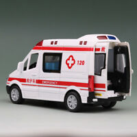 1:36 Scale Ambulance Model Car Diecast Toy Vehicle Gift Kids Pull Back