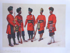 Antiquarian Indian Army Print (1911) Hyderabad Contingent 98th Infantry - Lovett