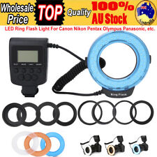 Macro LED Ring Flash Light + 8 Ring Adapters for Nikon Canon Pentax DSLR Camera