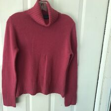 Charter Club Sweater Womens Small Turtleneck 100% Cashmere Pink Fuchsia 2-ply
