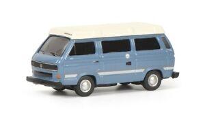 Schuco 26445 - 1/87 VW T3b Joker Camping Bus, Bleu - Neuf