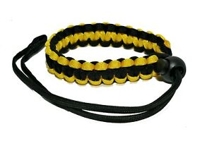 KOOD Paracord Camera Wrist Braided Camera Strap in Black & Yellow #ACSPWSYB (UK)