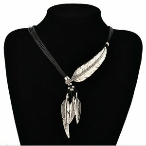 925 Sterling Silver Eagle Hawk Falcon Feather Necklace (Pendant + Leather Cord)