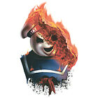 Horror Temporary Tattoo Stay Puft Marshmallow Man on Fire Ghostbusters Halloween