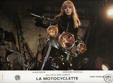 MARIANNE FAITHFULL LA MOTOCYCLETTE 1968 VINTAGE LOBBY CARD #16 HARLEY DAVIDSON