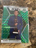2019-2020 Giannis Antetokounmpo #297 Prizm Mosaic MVP Green Bucks 247