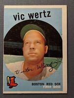 1959 Topps #500 Vic Wertz Boston Red Sox VGEX