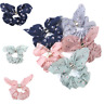 Kawaii Women Adjustable Bow Knot Hair Rope Ring Tie Scrunchie Ponytail Holder