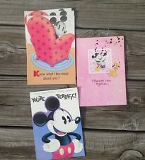 Vintage Disney Mickey Mouse Greeting card lot 5 Gibson  Neat Stuff scrapbook