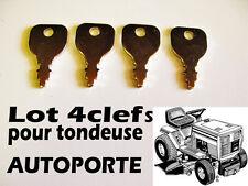 tondeuse autoporté tracteur/  JEU DE 4 CLEFS pour CONTACTEUR A CLEF ELECTRIQUE /