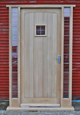 Solid Oak Front Door with sidelights!!! Made to measure!!! Bespoke!!! Unglazed