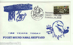 A LOVELY COVER FROM THE USA. 1991 100th ANNIVERSARY OF PUGET SOUND NAVAL STATION