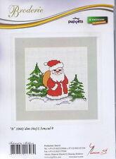 Santa Claus Père Noël point de croix Kit-Luca-S 16 cm x 11.5 cm