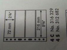LEUCHTTURM CONFEZIONE 5 FOGLI GRANDE FONDO NERO X FRANCOBOLLI 4+4 SCOMPARTI  4S