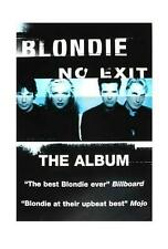 BLONDIE POSTER NO EXIT