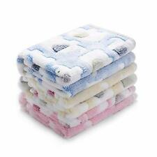 """1 Pack 3 Blankets Super Soft Fluffy Premium Small(23*16"""") Blue/Pink/Yellow"""