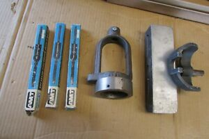 Mortising Attachment for Drill Press, AMT, with 3 chisels
