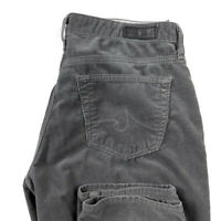 AG Adriano Goldschmied Womens 27 Gray Corduroy Stevie Ankle Pants