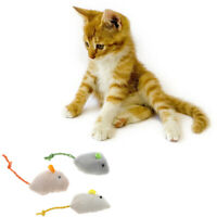New 3 pcs/ package False Long Tail Mouse Rat Pet Cat Kitten Dog Playing Toy ;