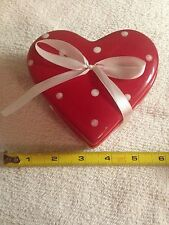 Ceramic 4 1/2 inch Heart Shaped Trinket Box by Holiday Home