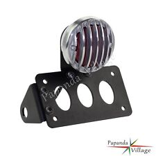 Motorcycle Side Mount License Plate Tail Light Bracket For Custom Bobber Chopper