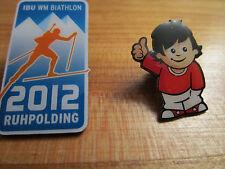 2 Biathlon Pins IBU Ruhpolding   WM 2012 und dem Mainzelmänchen vom ZDF