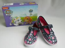 Sz 10.5 Blue 11 Toddle Girls/' Paw Patrol Heart T-Strap Casual Canvas Shoes