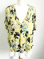 Ladies M&S Yellow Floral Summer Top. 22 Plus Size. New With Tags.
