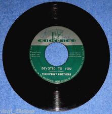 """PHILIPPINES:THE EVERLY BROTHERS - Devoted To You,Let It Be Me,7"""" 45 RPM,Cadence"""