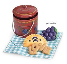American Girl Addy Lunch Pail Set~School~Food