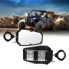 "UTV Rear View Side Mirrors w/ LED Light for Polaris RZR Fit 1.5""-2"" Roll Cage"