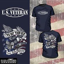 US VETERAN T-SHIRT 2ND AMENDMENT USMC NAVY ARMY AIR FORCE USA BRAND NEW T-Shirt