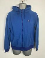 MENS NIKE BLUE CASUAL ZIP UP LONG SLEEVE CREW NECK HOODIE JUMPER SWEATER SIZE S