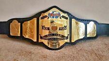 World 6 six Man TAG TEAM Wrestling Championship Belt Adult Size