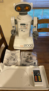Vintage Tomy Omnibot 2000 Robot  with Tray and  Remote - Not  Tested No Reserve!