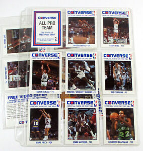 1989 Converse Basketball Set in Sheets (15) Bird Johnson Malone