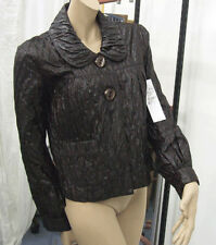 Joseph Ribkoff 10 BNWT Fab Traditional Style Round Collar Midlength Black Jacket