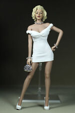 "Female Figure Clothes 1/6 Marilyn Monroe White Dress Clothing for 12"" Body Doll"