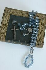 Chapelet ancien Argent Perles verre Bleu Collection Collection Religion Rosary