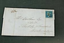 GB 1852 2D BLUE IMPERF (3 GOOD MARGINS) ON COVER, LETTERS LE - FINE USED