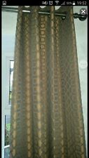 """2 Pairs x Next curtains Lined Bronze/Geo design - 53"""" by 90"""""""