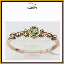 Montana Saphir Gold Ring 14K Rose Gold Stapelbare Ringe Grün Shapphire 3.5