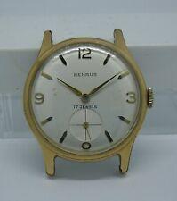 Benrus ETA 1281 Working Gold Plated Swiss Watch 1950/60 Reloj Benrus Chapado Oro