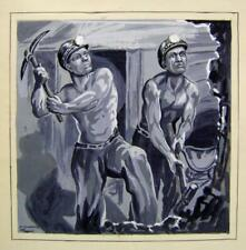 ILLUSTRATIONS THE MINERS DOROTHY DENNIS MONOCHROME WASH C1938