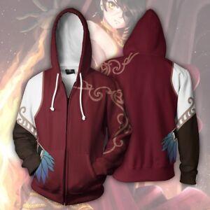 Anime RWBY Cinder Fall Zipper Jacket Hooded Sweatshirt Coat Tops Cosplay S-5XL