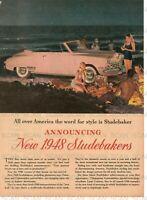 1948 Studebaker Automobile Vintage Magazine Ad
