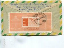 Brazil air mail cover to Germany 1961